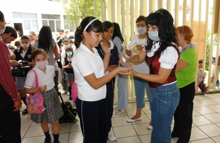 Filtros en escuelas por influenza