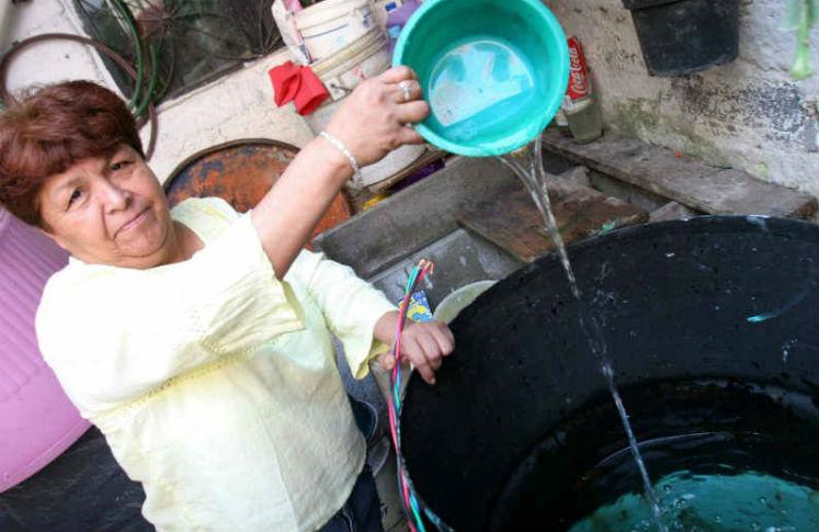 Corte de agua en Iztapalapa