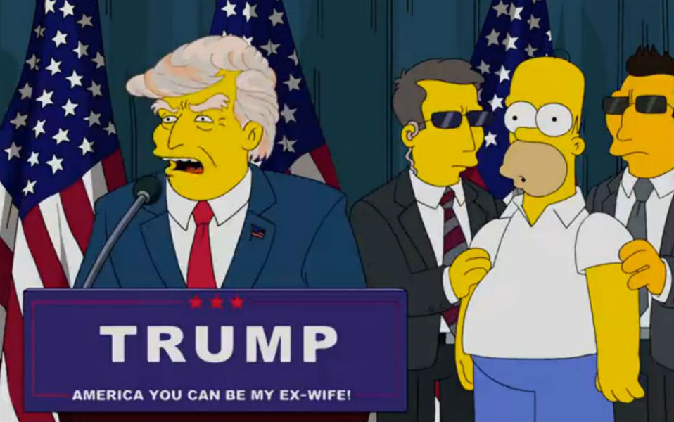 Simpsons predicen triunfo de Donald Trump