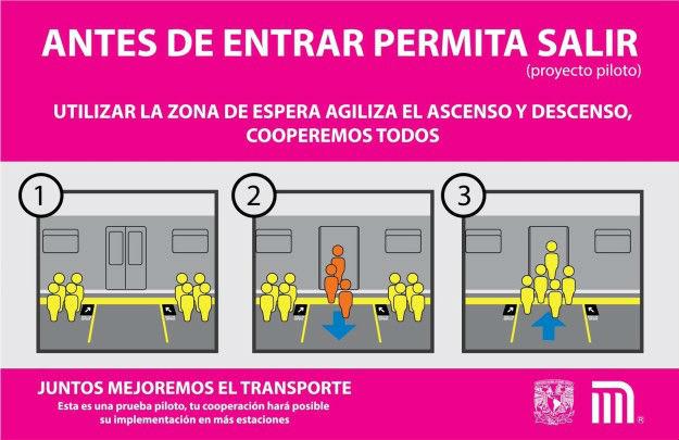 Gente se forma en el metro CDMX