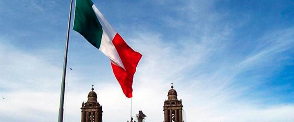 Grito de independencia en el Zócalo